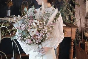 オーダー品:大人ピンク系大きめの花束