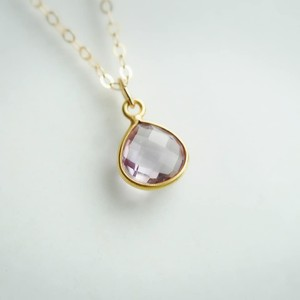 宝石質アメジスト K14GF ネックレス 40・45cm ~愛・癒し~
