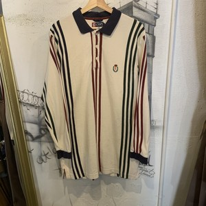 CHAPS  stripe  long sleeve polo shirt