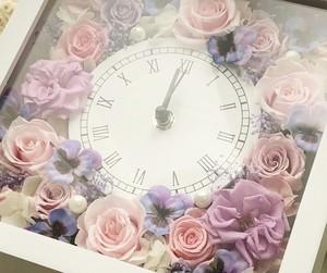 <プリザーブドフラワー>花時計