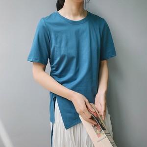 【即納】シャーリング クラッシック カットソー Tシャツ | ブルー