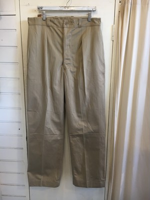 40〜50s French Army M-52 1tuck Chino Trousers
