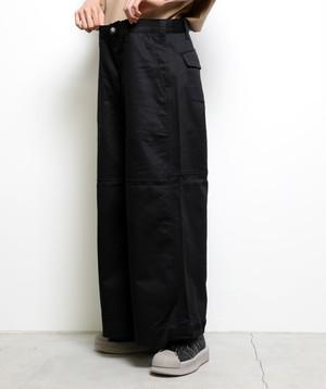2Way Flap Cargo Pants (Black)