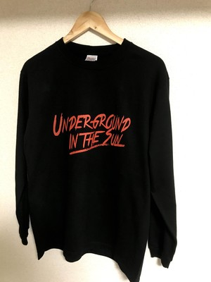 """UNDERGROUND IN THE SUN"" ロンT BLACK"