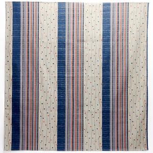 縞小紋 青 木綿 3巾風呂敷