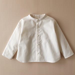 フランネルのファーマーズカラーシャツ