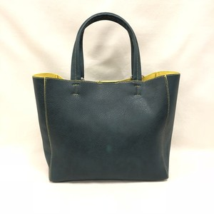 Fake Leather Mini Tote [Green]