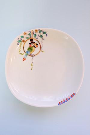 parrot circus / plate(15cm)