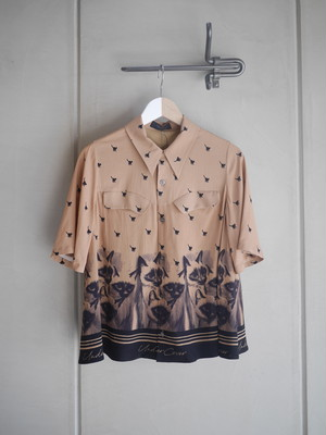 UNDER COVER / CAT FLARE S/S SHIRT