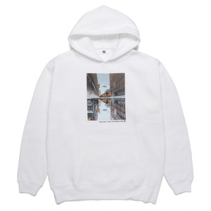 "Genya Sato × Rueed ""Trip Exhibition 2020"" HOODED SWEAT SHIRT / WHITE"
