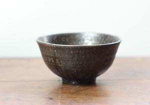 黒釉 めし碗 k2