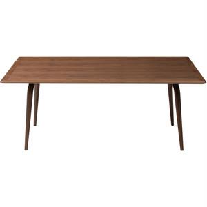 Capeダイニングテーブル ウォールナット材 W210×D100×H73.5㎝