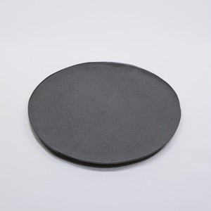 mego 丸プレート 黒マット 小 【陶器】2021032602