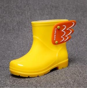 7862雨靴 キッズ  子供 子ども  ジュニア 長靴   女児 女の子 レインブーツ 男児 男の子 レインシューズ ショートブーツ14cm-22cm 黄色