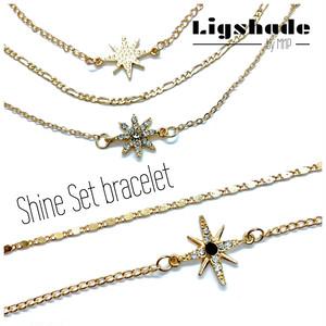 【No.1334】Shine✴︎Set bracelet