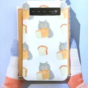 食パンむしゃあ  モバイルバッテリー microUSBケーブル(蓄電用コード)