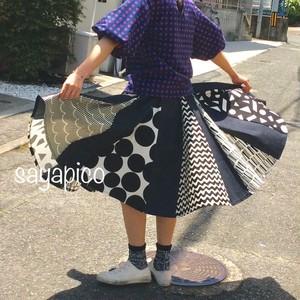 【sayapico】 ぴらぴらスカート/モノトーン ★受注生産★