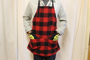 50%OFF 20/80 / HEAVY FLANNEL CHECK SHORT APRON