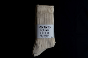 RoToTo / ORGANIC COTTON DAILY 3 PACK SOCKS