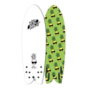 "Ben Gravy Retro Fish 5'8""Quad"