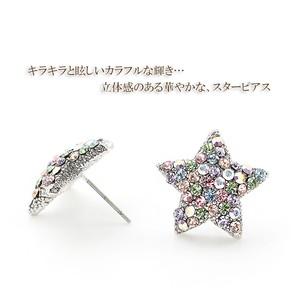 【星に願いを】プレシオサ社製クリスタル 輝く星のスターパヴェピアス(チタンポスト使用)