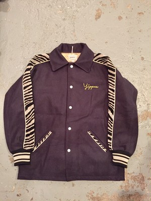 """yippee""  ZEBRA COAT  NAVY"