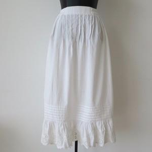 ヴィンテージコットンティアードレースフリルホワイトスカート:¥5,000+tax