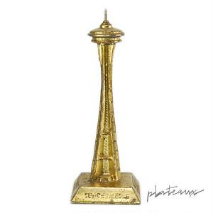 シアトル スペースニードル 金色 金属製 置物 スーベニア
