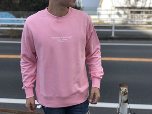 ThreeArrows Message スウェット(pink)