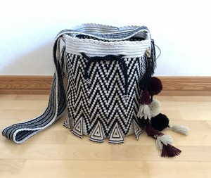 【Pre-order】ワユーバッグ (Wayuu bag) Luxe line With Bead Art D