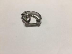 【8号】Vintage silver chain 動くring
