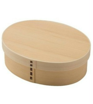 wooden 曲げわっぱ弁当箱 小判1段|天然木
