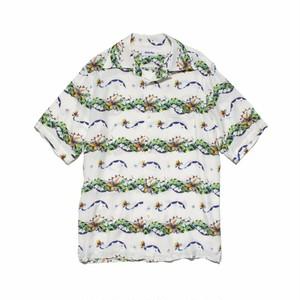 HOLHY × ALOHARUG バード・オブ・パラダイス ALOHASHIRT アロハシャツ WHITE