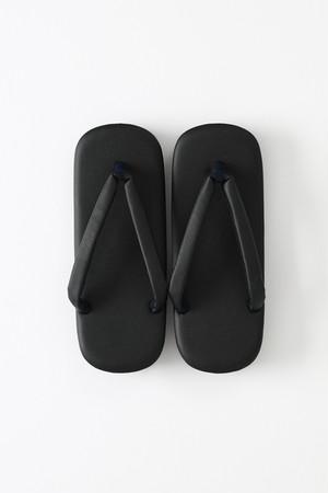草履 / 型押 / vibramソール / Black
