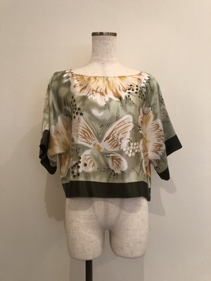 vintage reworked butterfly printed tops