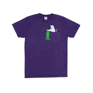 RIPNDIP - Break Yo Self Pocket Tee (Purple Mineral Wash)