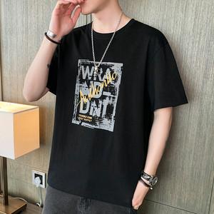 【メンズファッション】早い者勝ち アルファベット プリント ラウンドネック 半袖 Tシャツ44520622