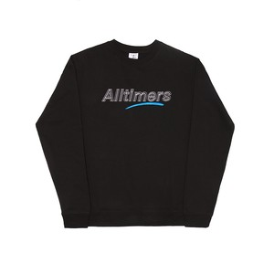 ALLTIMERS / DASHED CREW -BLACK-