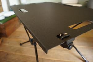 Helinox Home(ヘリノックス)テーブルM.S.ワン用 テクスチャブラック天板。