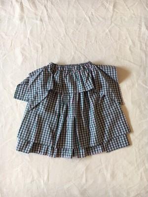 angel check skirt  ピンクグリーンチェックMサイズ