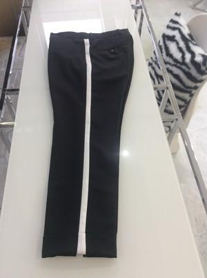 Black White Side Line Pants 黒に白いサイドラインパンツパンツ NHEPU0120
