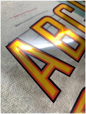 ゴールドリーフ調レタリングステッカー No.630R