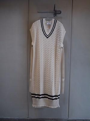 HYKE / TILDEN SWEATER DRESS (WHITE)