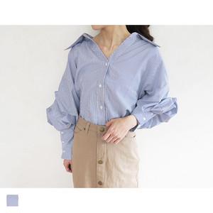 ボリュームスリープストライプシャツ|A04023
