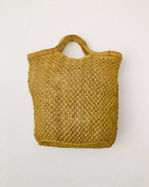 Jute macrame shopping bag Yellow|ショッピングバッグ