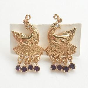 """AVON"" Peacock Dangle pierce[p-562]"