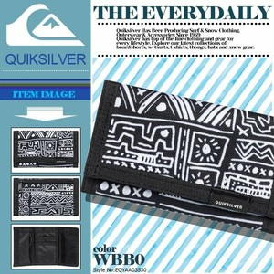 EQYAA03530 WBB0 三つ折り 財布 クイックシルバー メンズ キッズ ウォレット 入学 就職 プレゼント ギフト THE EVERYDAILY QUIKSILVER