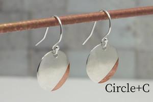 Circle +Bs - 円盤ピアス +銅