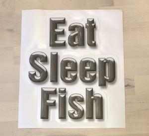 Eat Sleep Fish カーペットデカール