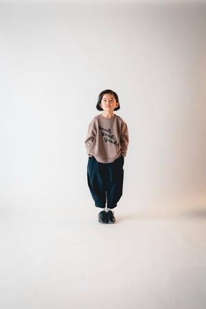 KIDS:nunuforme【ヌヌフォルム】yeah yeah yeah!!!トレーナー(グレーベージュ/95〜145cm)